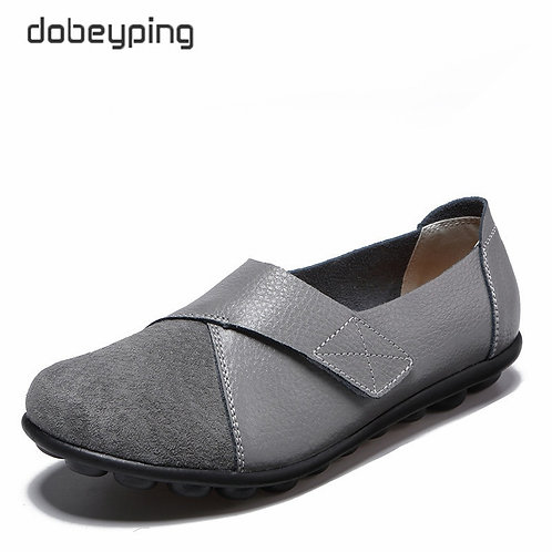 Dobeyping New Spring Autumn Shoes Woman Genuine Leather