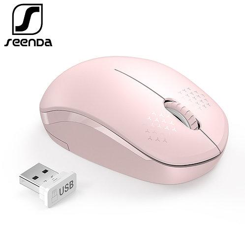SeenDa 2.4G Wireless Mouse for Laptop Desktop Silent Mouses Portable Mute Mice