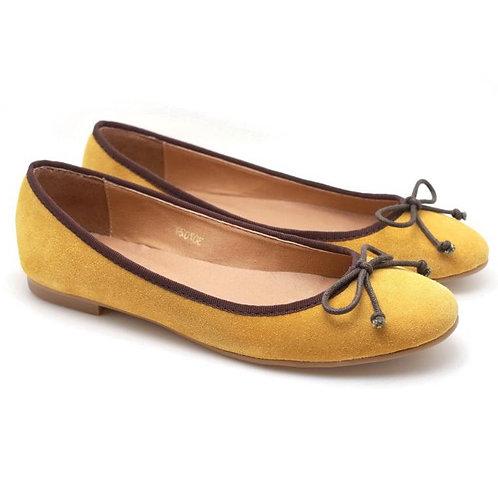 PP Suede Ballerina (Mustard)