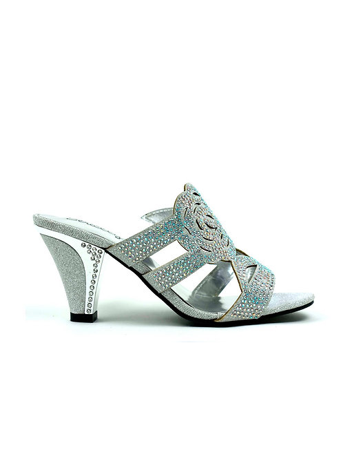 Rose for Your Feet Heel Silver