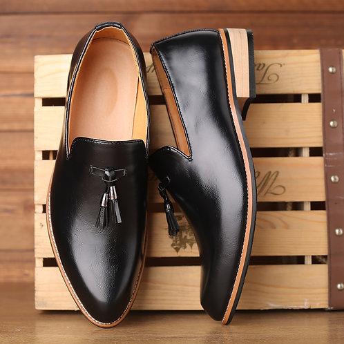 Men Dress Shoes Gentlemen British Style Paty Leather