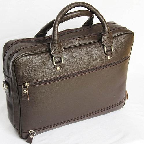 BOSS -Leather Brown  Briefcase MJ -Bag -Satchel -Moroccan Handmad