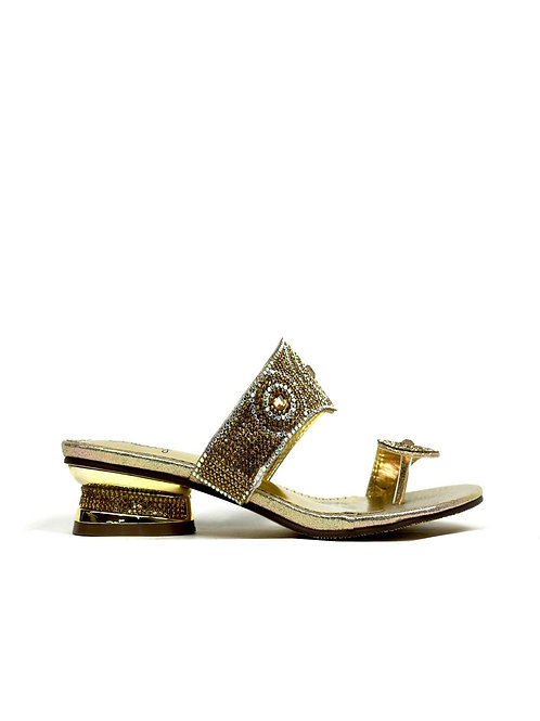 Indian Style Toe Post Sandal Gold