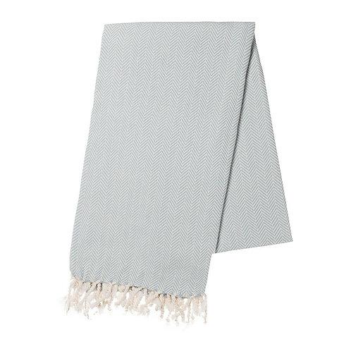 Mint Herringbone Turkish Towel