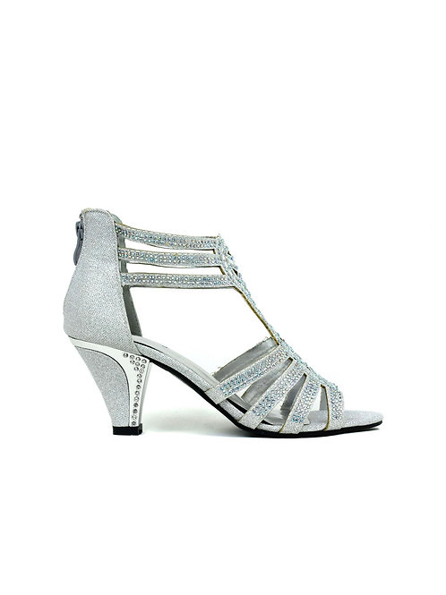 Up to My Ankles Sandal Silver