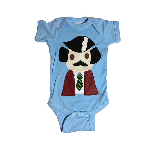 Baby Onesie -Stay Crafty... Burgundy Jacket Man