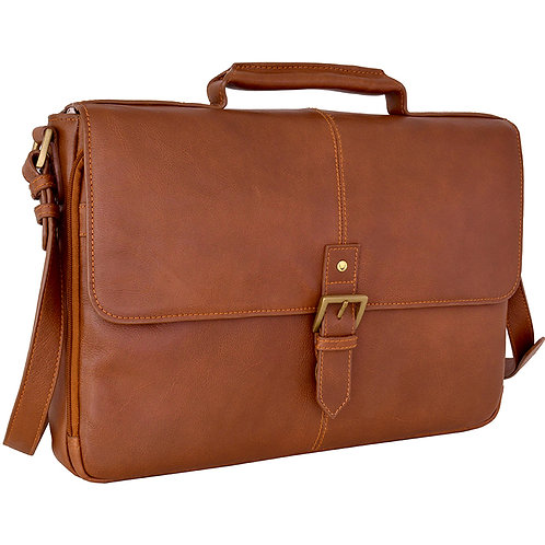 """Hidesign Charles Leather 15"""" Laptop Compatible Briefcase Work Bag"""