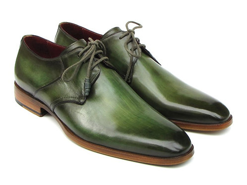 Paul Parkman Men's Green  Derby Shoes  (ID#059-GREEN)