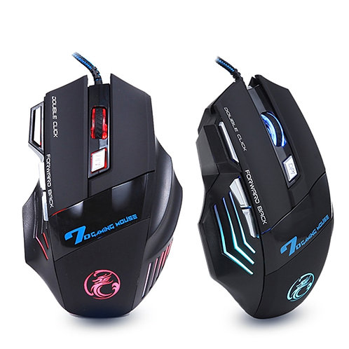 Ergonomic Wired Gaming Mouse 7 Button LED 5500 DPI