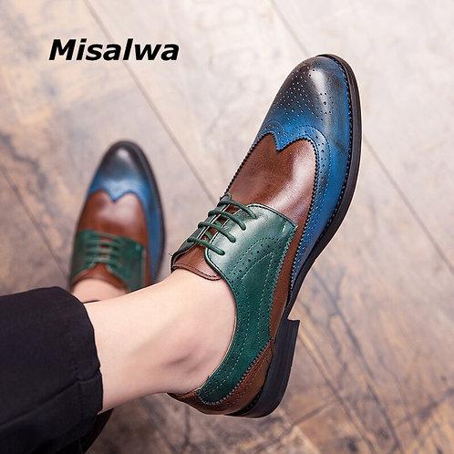 Misalwa Full Brogue Men Casual Dress Shoes