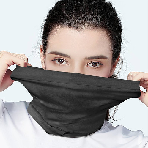 Solid Dark Grey Pewter  Scarf Wrap Mask   Fashion Face Mask