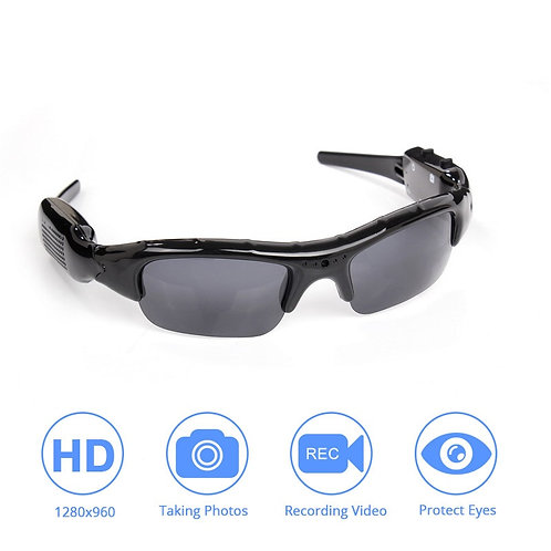 Light-Weight DVR Sunglasses Camera TF Mini Audio Video Recorder High Quality