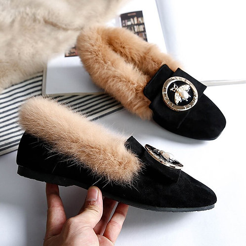 Woman Warm Snow Boots Genuine Leather Wool Winter