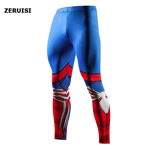 Superhero High Quality Men Skinny Pants 3D Pattern