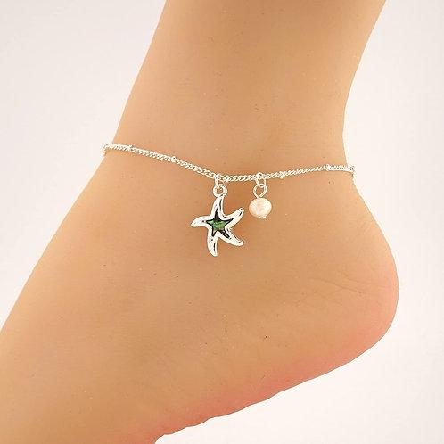 Abalone Charm Starfish Anklet Ankle Bracelet