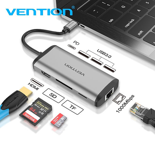 Vention Usb Hub USB Type C to HDMI USB 3.0 HUB Thunderbolt 3