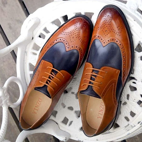 Mens Formal Shoes Genuine Leather Oxford Shoes