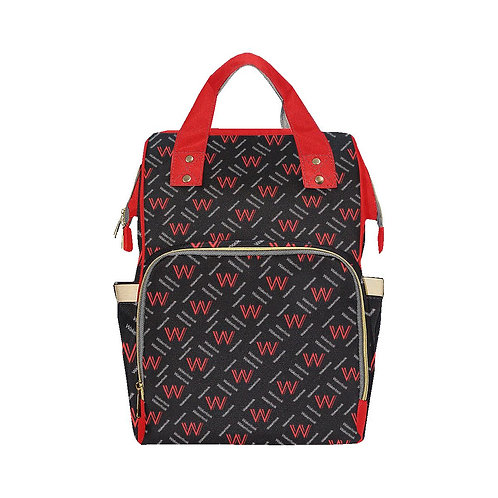 Red and Black Wakerlook Multi-Function Backpack
