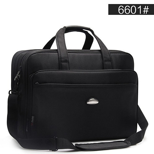Large Capacity Business Men 17 Inches Briefcases Black Bags Men's