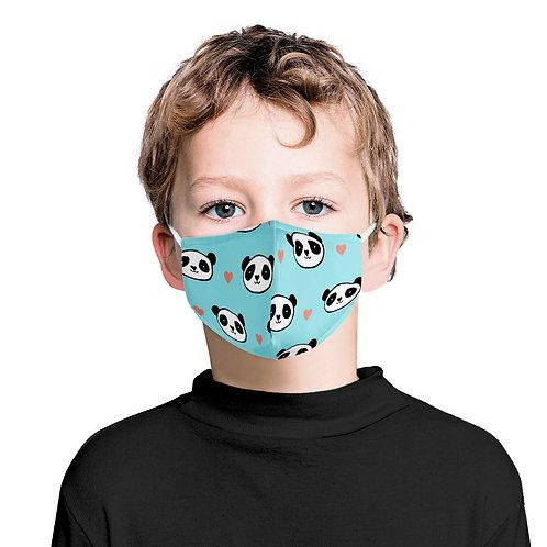 Blue Panda Graphic Pattern | Kids Adorable Face Mask