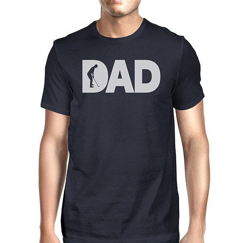 Dad Golf Mens Navy Funny T-Shirt For Golf Dads