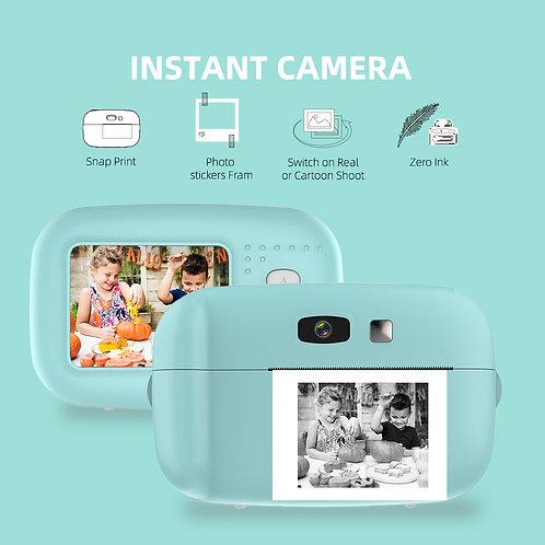 1080P Instant Snap Print Kids Mini Camera Video Vlog Digital Camcorder