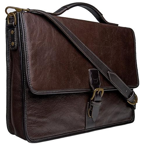Hidesign Harrison Buffalo Leather Laptop Briefcase
