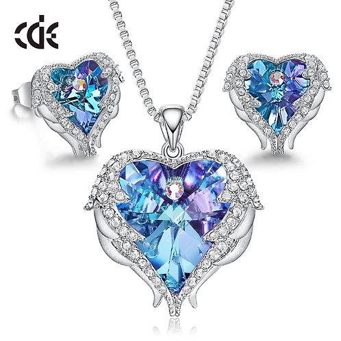 CDE Women Necklace Earrings Jewelry Set