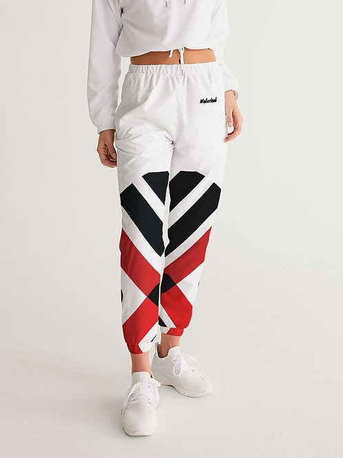 Red and Black Wakerlook Women's Track Pants