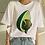 Thumbnail: Cartoon Avocado Vegan Short Sleeve Cute T-Shirt