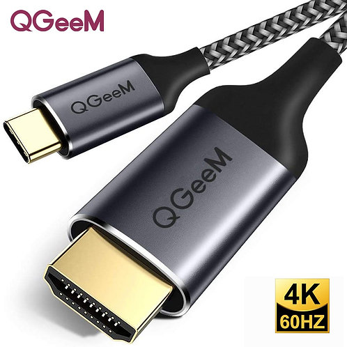 QGeeM USB C to HDMI Cable 4K Type C HDMI Thunderbolt 3
