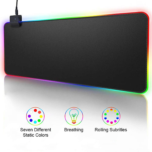 RGB Gaming Mouse Pad Computer Mousepad Large Mouse Pad Xxl Big Gamer Desk