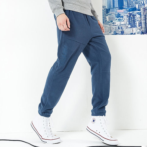 Pioneer Camp New Winter Thick Fleece Sweatpants Men Brand Clothing Letter
