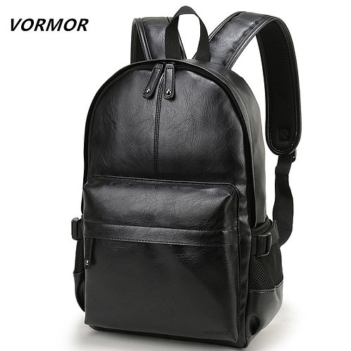 VORMOR Brand Men Backpack Leather School Backpack Bag Fashion Waterproof