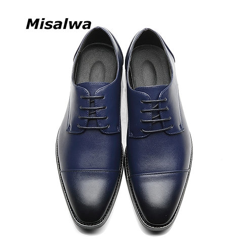 Misalwa Brand Men Simple Lightweight Men Classic Derby Shoes