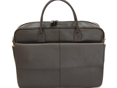 BRUNO -Leather Brown Briefcase MJ -Bag -Satchel -Moroccan Handmade