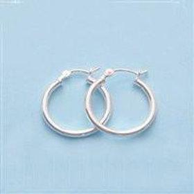 18mm Sterling Silver Hoop Earrings - (1 Pair)