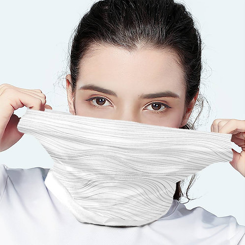 Solid Blank White Scarf Wrap Mask | Fashion Face Mask