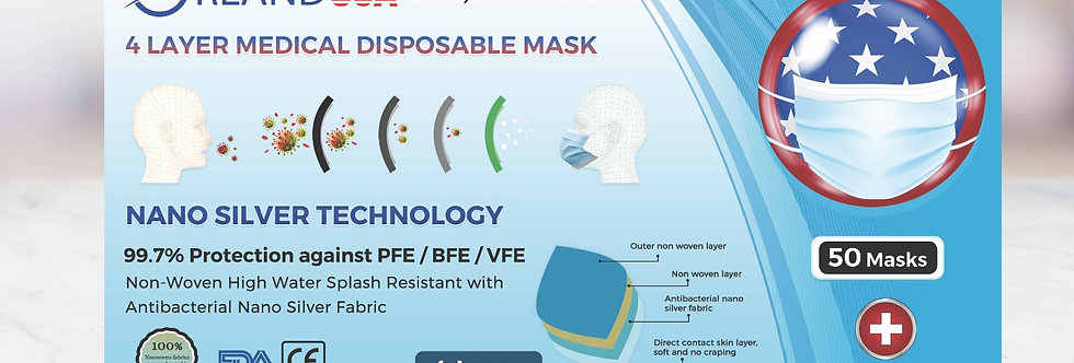 4 Layer Medical Disposable Mask