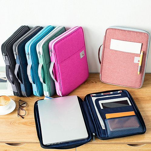Multi-Functional A4 Document Bags Filing Pouch Portable