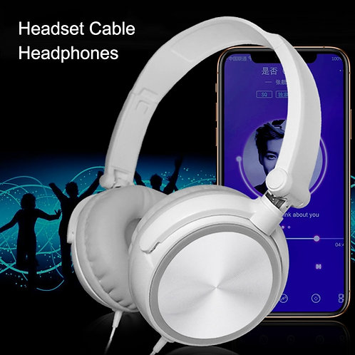 Wired Computer Headset With Microphone Heavy Bass