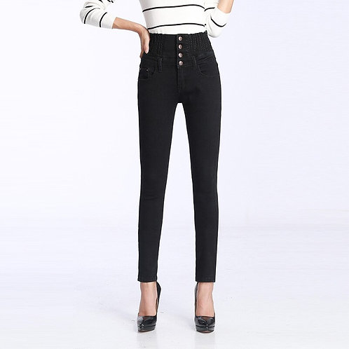 Large Size Women's Jeans High Waist Women