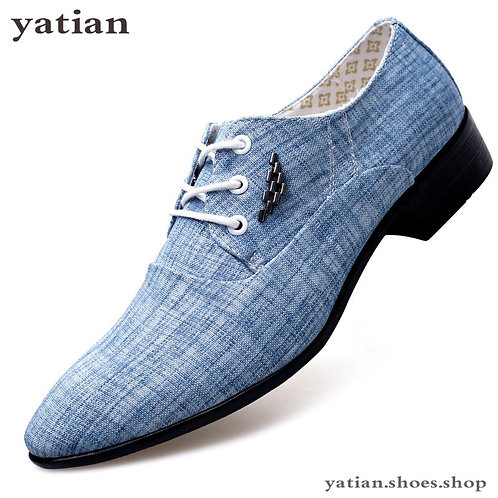 Mens Dress Shoes Leather Wedding Canvas Casual