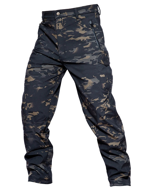 MEGE Soft Shell Tactical Camouflage Pants Men Combat Waterproof Military