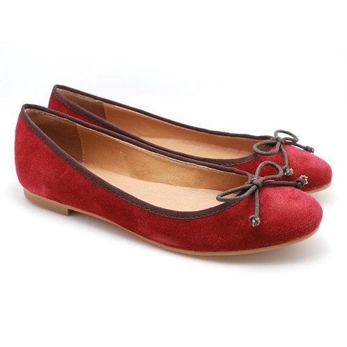 PP Suede Ballerina (Red)