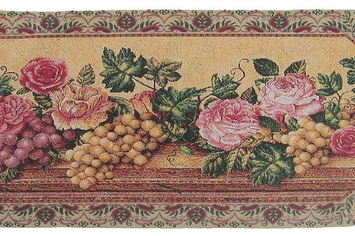 DaDa Bedding Romantic Parade of Fruit & Roses Floral Tapestry