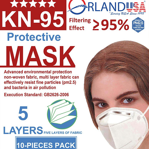5 Layer KN-95 face Mask Packet Of 10