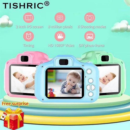 TISHRIC Children's Camera Mini Digital 1080P Video Photo Selfie Chargable