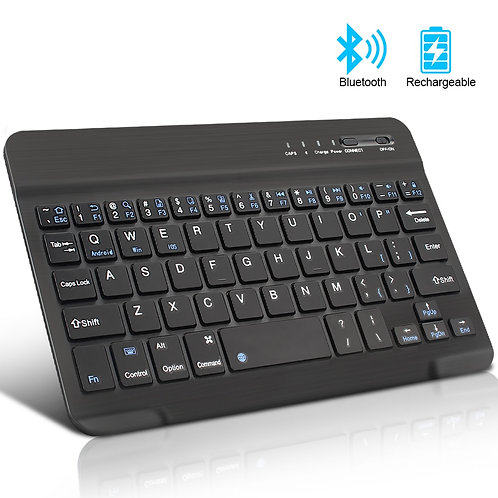 Mini Wireless Keyboard Bluetooth Keyboard for Ipad Phone Tablet Rubber Keycaps