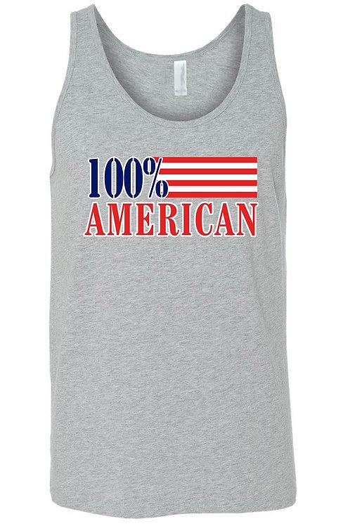 USA Flag Tank Top Men's 100% American Shirt